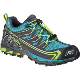 La Sportiva Falkon Low GTX Shoes Kids, gris/turquoise